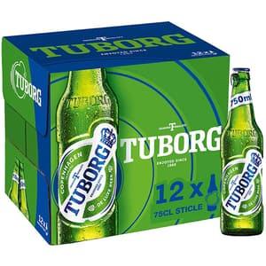 Bere blonda Tuborg bax 0.75L x 12 sticle