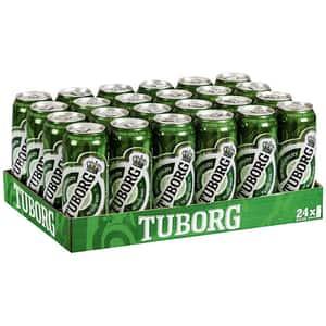 Bere blonda Tuborg bax 0.5L x 24 doze