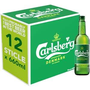 Bere blonda Carlsberg bax 0.66L x 12 sticle