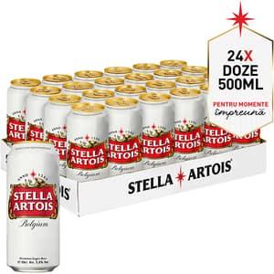 Bere blonda superioara Stella Artois bax 0.5L x 24 doze
