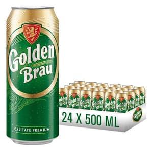 Bere blonda Golden Brau bax 0.5L x 24 cutii