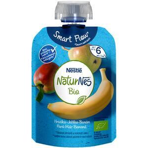Piure NESTLE NaturNes Bio cu pere, mere si banane 12428703, 6 luni+, 90g