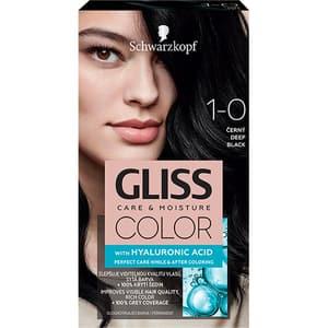 Vopsea de par SCHWARZKOPF Gliss Color, 1-10 Negru Intens, 143ml