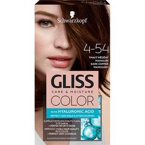 Vopsea de par SCHWARZKOPF Gliss Color, 4-54 Mahon Inchis Roscat, 143ml