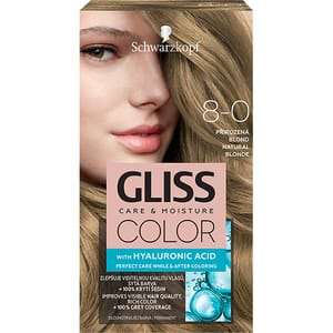 Vopsea de par SCHWARZKOPF Gliss Color, 8-0 Blond Natural, 143ml