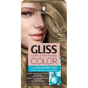 Vopsea de par SCHWARZKOPF Gliss Color, 8-0 Blond Natural, 143ml