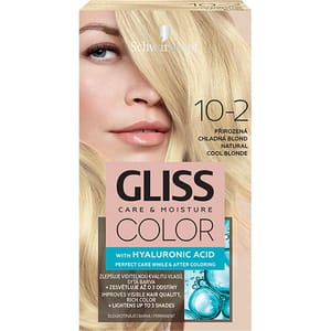 Vopsea de par SCHWARZKOPF Gliss Color, 10-2 Blond Rece Natural, 143ml