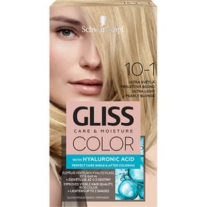 Vopsea de par SCHWARZKOPF Gliss Color, 10-1 Blond Perlat Ultra Deschis, 143ml