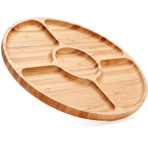 Platou din lemn de bambus pentru servire ZOKURA Z1100, 28cm, bambus, maro