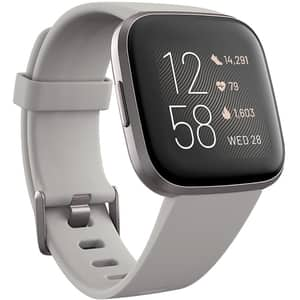 Smartwatch FITBIT Versa 2, Android/iOS, silicon, Stone / Mist Grey aluminum