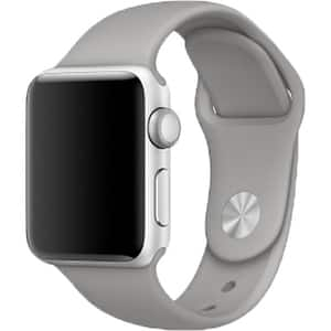 Bratara pentru APPLE Watch Seria 1, 38 mm, silicon, gray