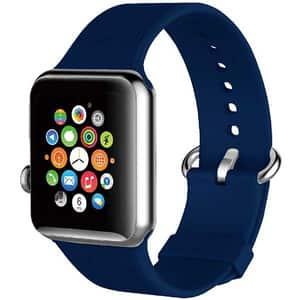 Bratara pentru Apple Watch 42mm/44mm, PROMATE Silica-42, silicon, albastru