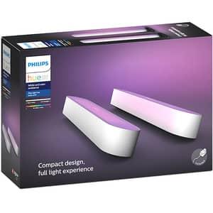 Pachet lampi inteligente PHILIPS Hue Play, lumina RGB, 6.6W, alb, 2 buc