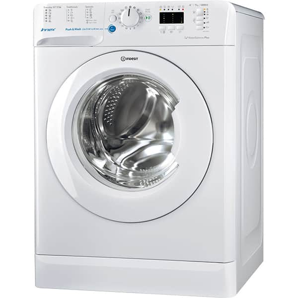 Masina de spalat rufe frontala INDESIT BWSA 71253 W EU, Push & Wash, 7kg, 1200rpm, Clasa A+++, alb