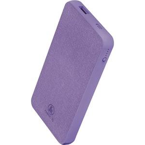 Baterie externa HAMA Fabric 10 187260, 10000mAh, 1xType C, 1xUSB, violet