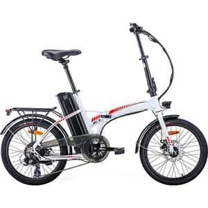 Bicicleta asistata electric pliabila MYRIA City Traveller MC3, 20 inch, negru-alb