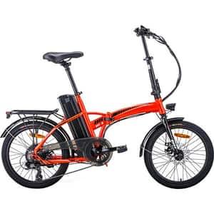 Bicicleta asistata electric pliabila MYRIA City Traveller MC3, 20 inch, negru-portocaliu