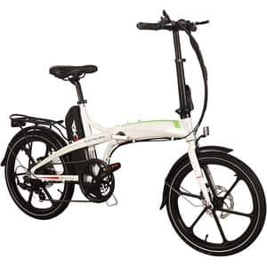 Bicicleta electrica RKS MX7, 20 inch, alb
