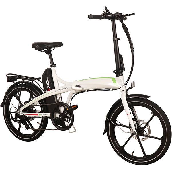 Bicicleta electrica pliabila RKS MX7, 20 inch, alb