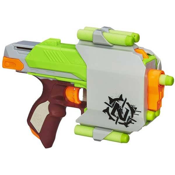 Blaster NERF Zombie Strike Sidestrike A6557, 8 ani+, multicolor