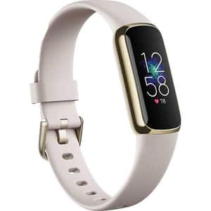 Bratara fitness FITBIT Luxe, Android/iOS, silicon, Lunar White / Soft Gold