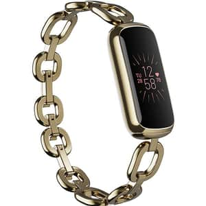 Bratara fitness FITBIT Luxe, Android/iOS, silicon, Special Edition gorjana Soft Gold Stainless Steel Parker Link Bracelet