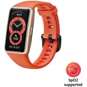 Bratara fitness HUAWEI Band 6, Android/iOS, silicon, Amber Sunrise