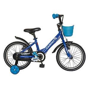 """Bicicleta pentru copii CARPAT C1601C, 16"""", albastru-negru"""