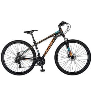 """Biciclata Mountain Bike-HTVELORS C2799H, 26"""", cadru aluminiu, negru-portocaliu"""