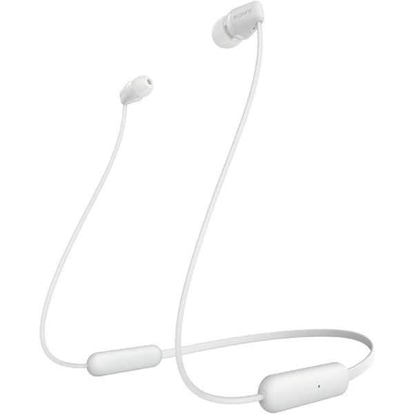 Casti SONY WIC200, Bluetooth, In-Ear, Microfon, alb