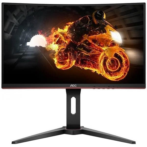 """Monitor Gaming curbat LED VA AOC C27G1, 27"""" Full HD, 144Hz, FreeSync, negru-rosu"""