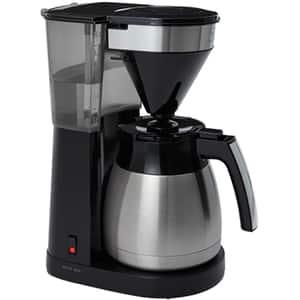 Cafetiera MELITTA Easy II Top Therm 1023-10 EU, 1.25l, 1080W, 10 cesti, argintiu-negru