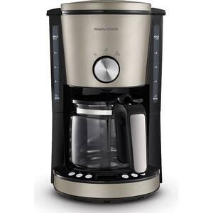 Cafetiera MORPHY RICHARDS Evoke Platinum 162525, 1.25l, 1000W, 10 cesti, negru-argintiu