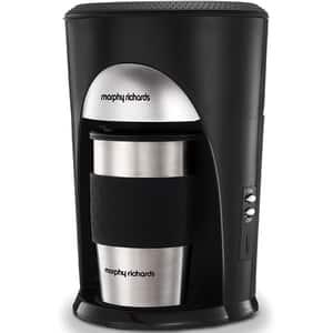 Cafetiera MORPHY RICHARDS Coffee On The Go 162740, 0.3l, 600W, 1 ceasca, negru-argintiu