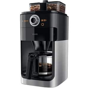 Cafetiera PHILIPS Grind&Brew HD7769/00, 1.2l, 1000W, negru-argintiu