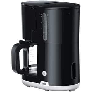 Cafetiera BRAUN KF1100BK, 1.38l, 1000W, 10 cesti, negru-alb