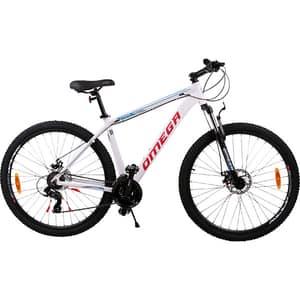 "Bicicleta de munte OMEGA Camino, 29"", cadru aluminiu, alb"