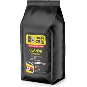 Cafea boabe LUCKY CATS Uganda Bugisu Bluehill, 500g