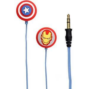 Casti Avengers Iron Man&Captain America 157495, Cu Fir, In-Ear, albastru