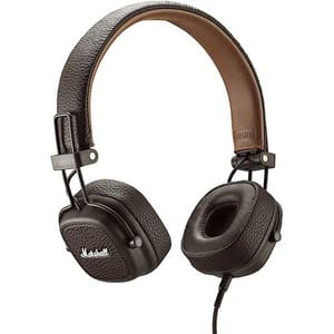Casti MARSHALL Major III, Cu fir, On-ear, Microfon, maro