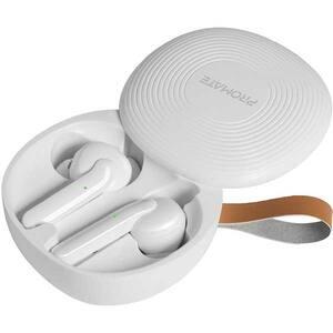Casti PROMATE Charisma, True Wireless, Bluetooth, In-ear, Microfon, alb