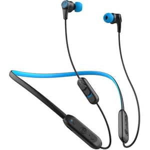 Casti JALB Play Gaming, Bluetooth, In-Ear, Microfon, negru-albastru