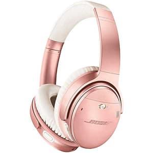 Casti BOSE Quiet Comfort 35 II, Bluetooth, On-Ear, Microfon, Noise Cancelling, roz-auriu