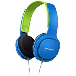 Casti pentru copii PHILIPS SHK2000BL/00, Cu Fir, On-Ear, albastru