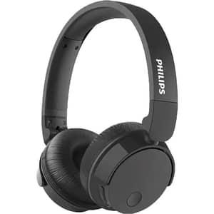 Casti PHILIPS Bass+ TABH305BK/00, Bluetooth, On-Ear, Microfon, Noise Cancelling, negru