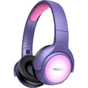 Casti pentru copii PHILIPS TAKH402PK/00, Bluetooth, On-Ear, Microfon, roz