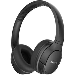Casti PHILIPS ActionFit TASH402BK/00, Bluetooth, On-Ear, Microfon, negru