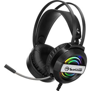Casti Gaming MARVO HG8902, USB, negru