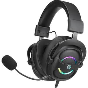 Casti Gaming HP DHE-8006, 7.1 virtual surround, USB, negru