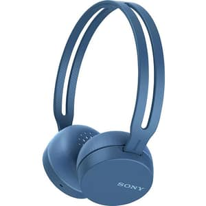 Casti SONY WHCH400L, Bluetooth, NFC, On-Ear, Microfon, albastru